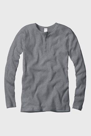 Pánske tričko rebrované dlhé rukávy