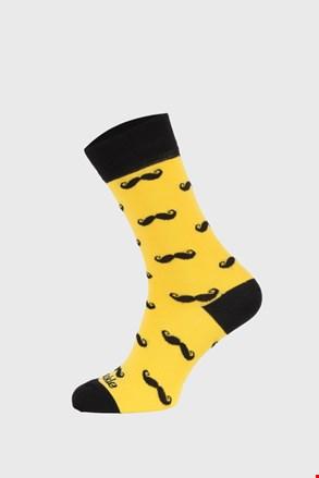Чорапи Fusakle Мустаци жълти