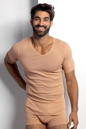 Nude μπλουζάκι κάτω από πουκάμισο
