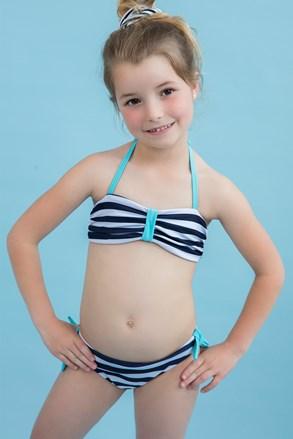 Dwuczęściowy dziewczęcy kostium kąpielowy Sailor