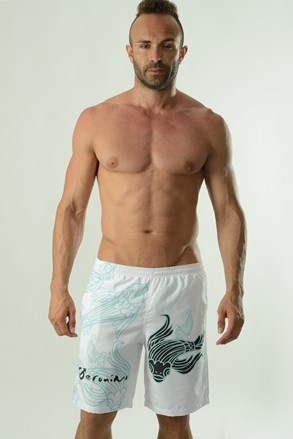 Męskie szorty kąpielowe Cyprinus białe