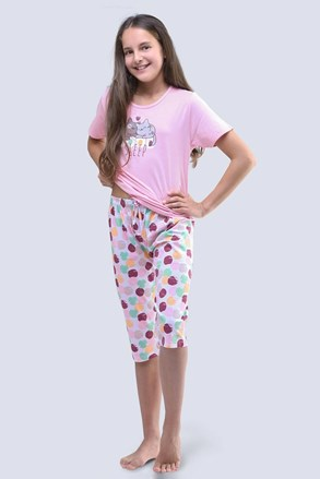 Pijama fetite Cats, roz