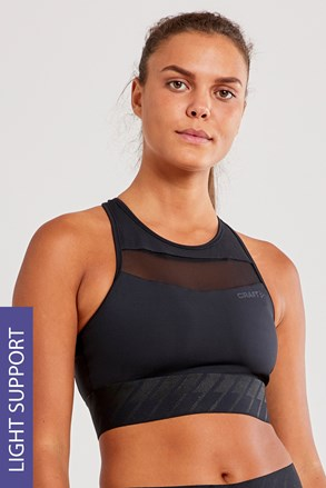 CRAFT Charge Cropped Mesh női top, fekete