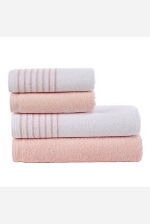 Eleganza törölköző és fürdőlepedő szett, rózsaszín