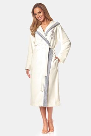 Дамски памучен халат May екрю