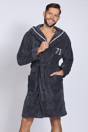 Темно-сірий халат Number