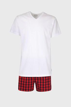 Піжамний комплект футболки та шортів в клітинку