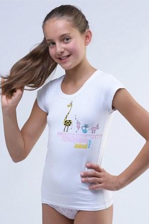 Dievčenské tričko Amazing biele