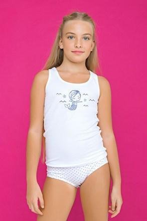 Комплект за момичета от бикини и потник Fairy син