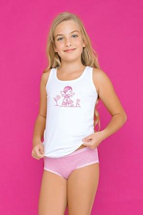 Комплект за момичета от бикини и потник Fairy розов
