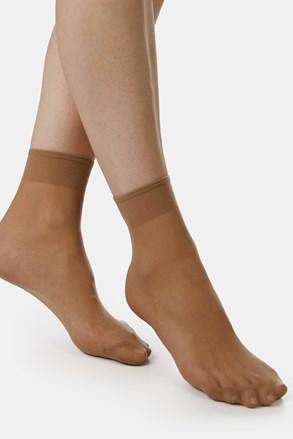 2 PACK дамски силонови къси чорапи EVONA Silver 20 DEN
