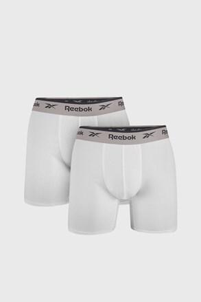 2 PACK bielych boxeriek Reebok Basic Sport