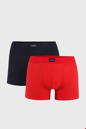 Férfi boxeralsó, 2 db 1 csomagban, piros-fekete