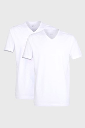 2 pack pánskych tričiek bugatti V-neck biele