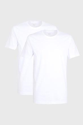 Dvojno pakiranje moških majic bugatti O-neck, bele barve