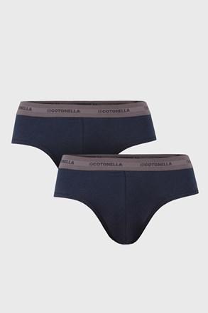 Dwupak niebieskich slipów Uomo Comfort