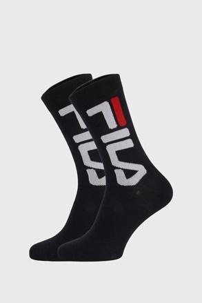 2 pack crnih visokih čarapa FILA