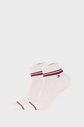 2 PACK άσπρες κάλτσες αστραγάλου Tommy Hilfiger Iconic