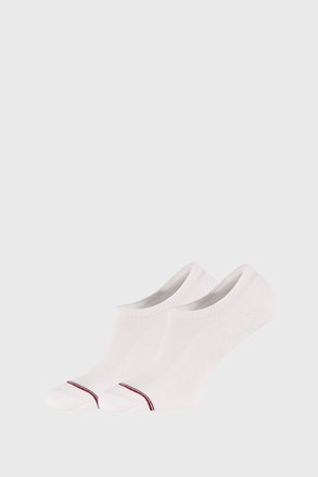 2 PACK άσπρες χαμηλές κάλτσες Tommy Hilfiger Iconic