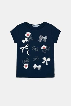 Dziewczęcy T-shirt Mayoral z kokardkami