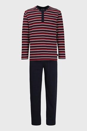 Червоно-синя смугаста піжама