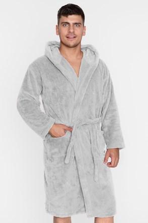 Теплий халат unisex сірий