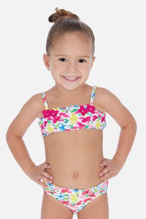 Dwuczęściowy dziewczęcy kostium kąpielowy Flowers