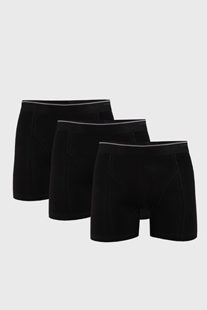 3 PACK boxeri Tender Cotton, negru