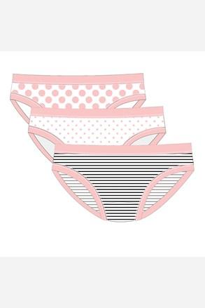 3 pack chiloti Pink Line, pentru fetite