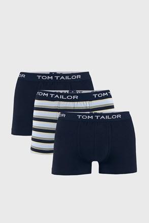 3 PACK boxeri Tom Tailor Elastic, albastru