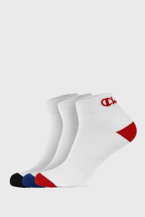 3 PACK bielych členkových ponožiek Champion
