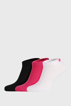 3 PACK nízkych ponožiek FILA Black Fuxia