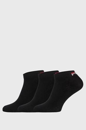3 pack čiernych nízkych ponožiek FILA