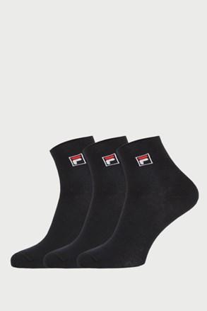 3 pack čiernych členkových ponožiek FILA