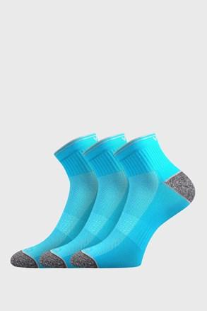 Trzypak sportowych skarpetek Ray neonowoniebieski