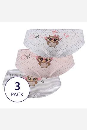 3 PACK бикини за момичета Owl