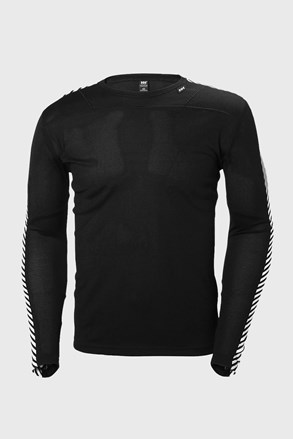 Čierne tričko s dlhými rukávmi Helly Hansen