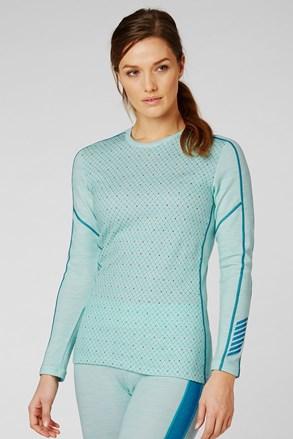 Γυναικείο μπλε λειτουργικό μπλουζάκι Helly Hansen Lifa Merino