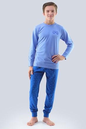Piżama chłopięca Atlantic jasnoniebieska