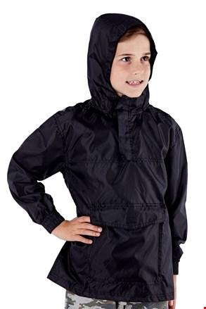 Dziecięca nieprzemakalna kurtka w kieszonce ProClimalit czarna