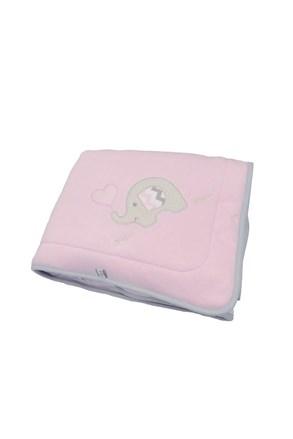Detská deka Blue Kids ružový slon