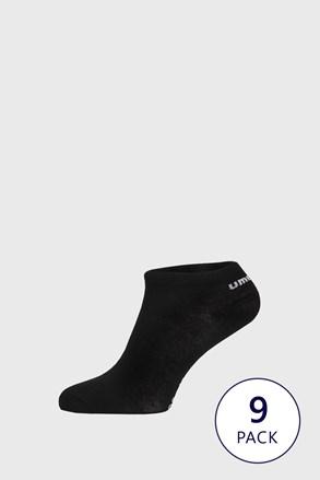 9 PACK черни чорапи до глезена Umbro