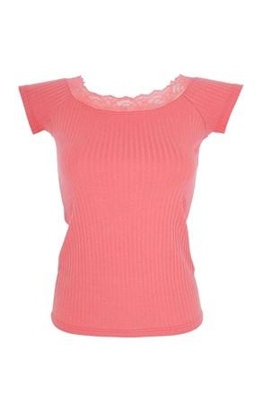 Γυναικείο μπλουζάκι με δαντέλα Sabrina