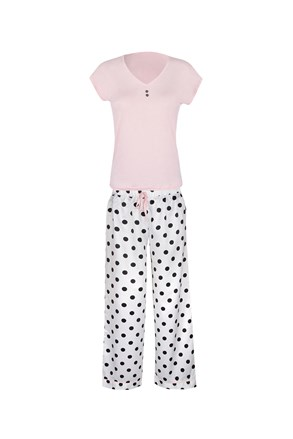 Damska piżama Polka w kropki