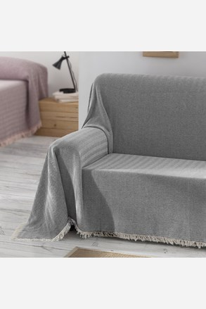 Prikrývka na posteľ Aitana sivá
