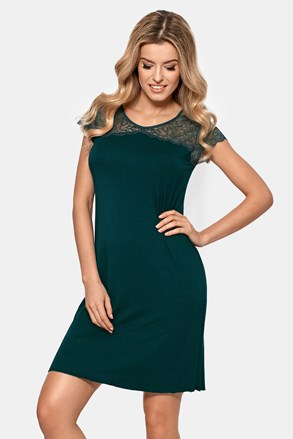Ženska spalna srajca Anastasia, temno zelena