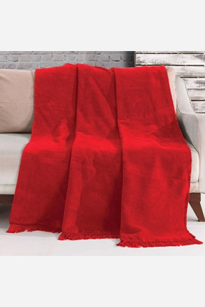 Koc Luxus czerwony