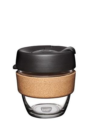Keepcup utazó bögre parafával, fekete, 227 ml