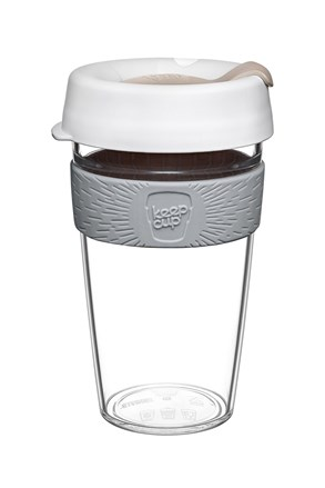 Cestovný hrnček Keepcup z Tritanu biely 454 ml