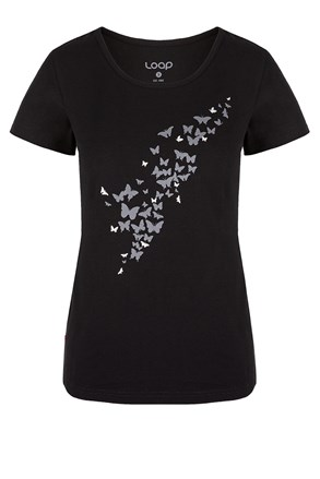 Czarny damski T-shirt LOAP Adamia